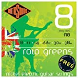 Rotosound Nickel Extra Light Gauge Electric Guitar Strings (8 11 14 22 30 38)