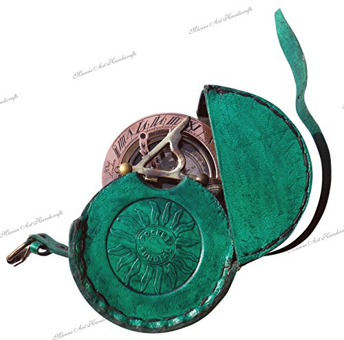 Ashortwalk-meridiana in ottone, quadrante bussola tascabile-brass di antichità west concessione item. regalo c-3058-a