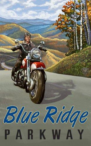 Northwest Art Mall Blue Ridge Parkway Motorrad North Carolina Art Wand von Paul, EIN lanquist, 11von 43cm