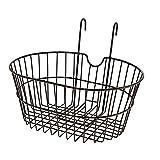 RIDEWILL BIKE Korb Oval Vorne großmaschig in Eisen Schwarz mit Haken (Körben Zyklus)