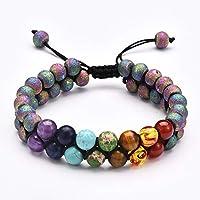Stillshine - Chakra Yoga Balancing Round Stone Beads Elastic Natural Bead Chain, Charm Men Women Gift Box (Style 4)