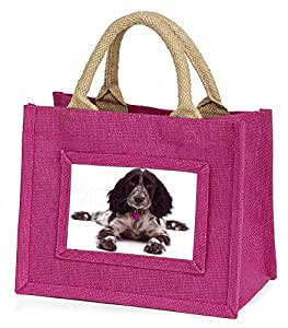 Cocker Spaniel Dog Christmas Gift Little Girls Small Pink Shopping Bag Christmas