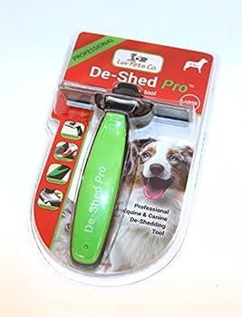 De Shed Pro - Outil de brossage professionnel avec Double Lame Exclusive - Toilettage pour chien, peigne idéal pour petits, moyens et grands chiens, chats et chevaux (grande brosse adaptée aux races de chien de grande taille 24 kg+ et aux chevaux)
