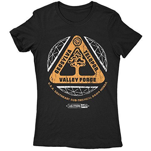 Flamentina 9397L Valley Forge Mujeres T-Shirt HAL 9000 Space 2010 2061 Clavius Base Computer Sal Lunar Moon Odyssey(LargeBlack)