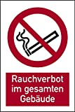 Pellicola selbstklebend divieto di fumare in tutti gli edifici DIN EN ISO 7010–200X 300mm