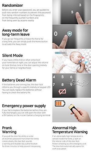Samsung Digital Door Lock SHS-1321 security EZON keyless by Samsung