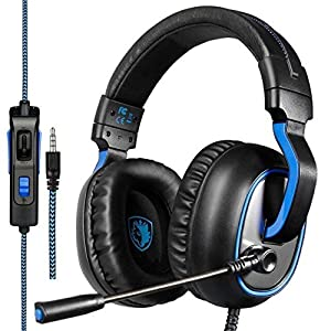 Sades Surround Sound USB Audio Over Ear Gaming Kopfh?rer Headset mit Mikrofon Lautst?rkenkontrolle f¨¹r PC/MAC/Laptop/Tablet/Computer