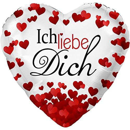 Ich Liebe Dich Ø 45cm | Folienballon | Ballongas Geeignet (Dich-ballon Ich Liebe)