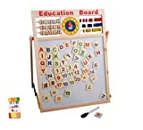 Smilelove 2-in-1 Black and White Double Sided Wooden Easel Chalk Drawing Board