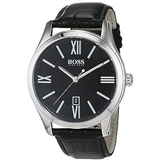 Hugo Boss Herren-Armbanduhr Ambassador Analog Quarz Leder 1513022