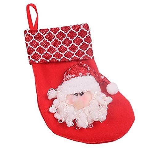 Lalang Kreative Geschenke der Süßigkeit Stocking Weihnachtsstrümpfe Deko fur Weihnachtsbaum- Anhänger / Christbaumschmuck (Rote (Süßigkeiten, Christbaumschmuck)