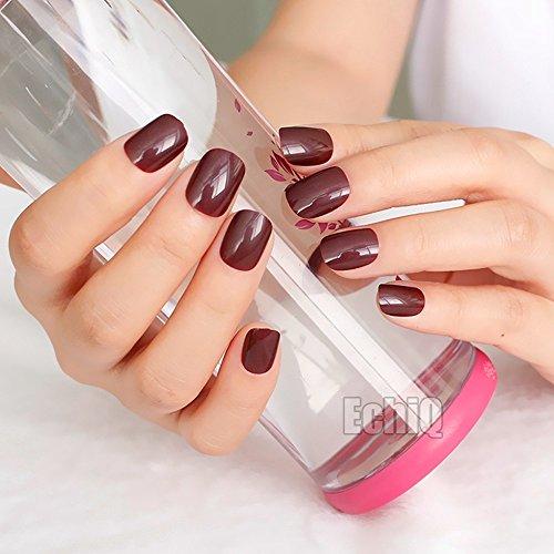 Avvelenamento red press on nails extra corto rosso scuro bambini taglia unghie finte 24pcs ideale per uso quotidiano p179k