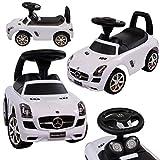 Rutschauto Rutscher Mercedes-BENZ Kinder Auto Baby Car mit Sound (Weiss)