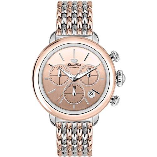 Glam Rock Women's Bal Harbour 40mm Two Tone Steel Bracelet Steel Case Swiss Quartz Analog Watch GR77118N