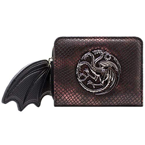 Cartera Game of Thrones ala dragón Cremallera Rojo