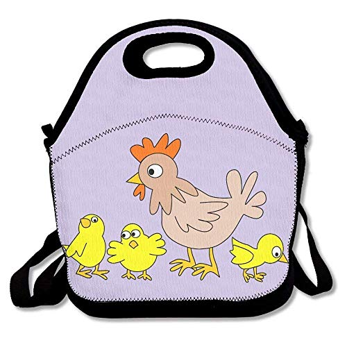 Funny Funny Chick And Hen Punk Lunch Bag Reusable Lunch Tote Lunch Box Handbag For Womens Mens Kids -