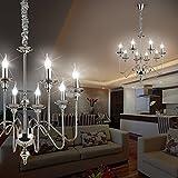 MIA Light Mittelalter Kronleuchter Ø700mm/ Antik/Flämisch/ Chrom/Lampe Leuchte Lüster Lüsterlampe Lüsterleuchte