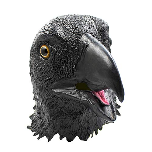 Zhanghaidong Latex Tierkopf Maske Halloween Cosplay Party Kostüm Abendkleid Adler Maske Segelfliegen Zu Leer Adler Haube Tricky Realistische Maske Bar COS Gruselig