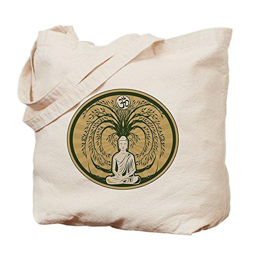 CafePress–Buddha und der Bodhi-Baum–Leinwand Natur Tasche, Reinigungstuch Einkaufstasche Tote S khaki (Zen-damen-tasche)
