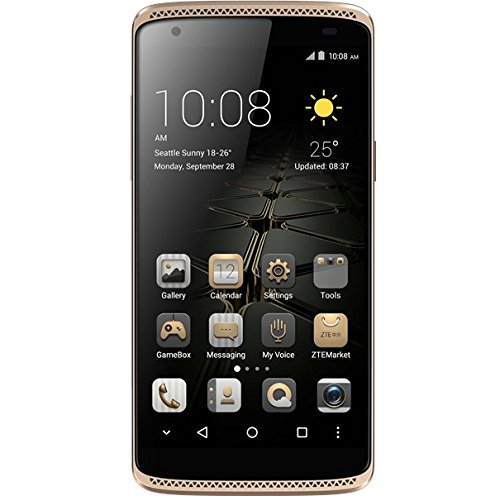 ZTE Axon Mini – Smartphone libre de 5,2″ (Dual SIM,  memoria interna de 32GB, 4G, Android 5.1 Lollipop), color oro
