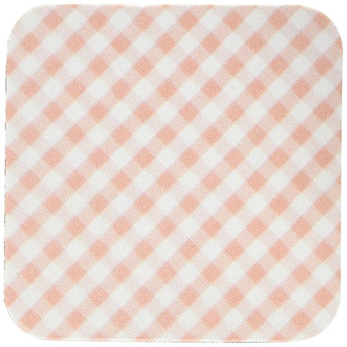 3dRose cst_113026_1 Brown and White Gingham Pattern Traditional Checkered Rustic Checks Retro Country Kitchen Dining-Soft Coasters, Set of 4