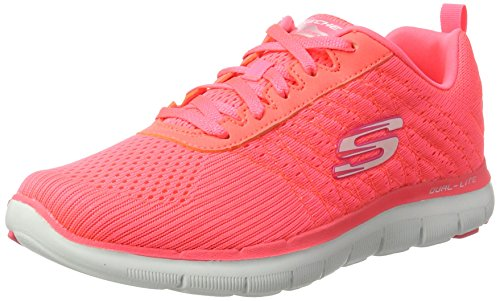 Skechers Flex Appeal 2.0-Break Free, Damen Outdoor Fitnessschuhe,Pink (Crl), 39 EU
