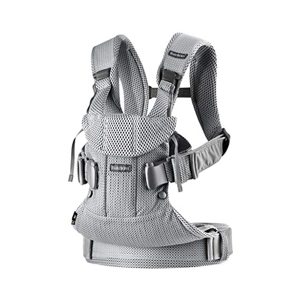 BABYBJÖRN Baby Carrier One Air, 3D Mesh, Silver, 2018 Edition Baby Bjorn The latest version (2018) with soft and breathable mesh that dries quickly Ergonomic baby carrier with excellent support 4 carrying positions: facing in (two height positions), facing out or on your back 1