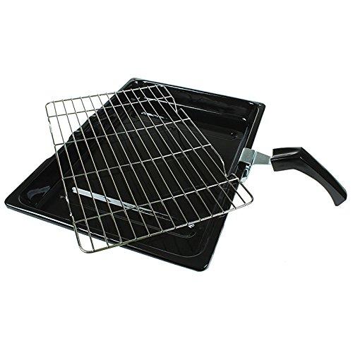 Ofen-gestell (Qualtex Stabiles Universal-Gestell für Ofen/Herd/Grill mit abnehmbarem Griff, 380 mmx 280mm)