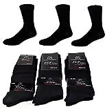 10 Paar E&F Damen- und Herren-Socken in Schwarz - aus hochwertiger Baumwolle - ohne Gummibund - für Business und Freizeit, Schwarz, Gr. 43/46