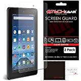 [2 Pack] TECHGEAR® Amazon Fire HD 8 HD8 (5th Generation/2015 Release) CLEAR LCD Screen Protectors With Cleaning Cloth + Application Card (NOT FOR OLDER GENERATION AMAZON TABLETS!)