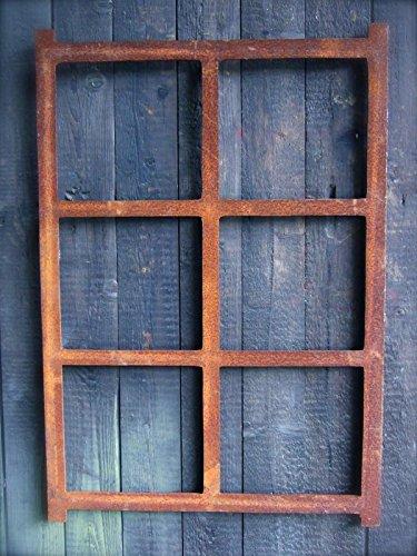 Antikas | Eisenfenster rechteckig | 67,5 cm x 48,5 cm | Fenster aus Gusseisen in antik Optik | für...