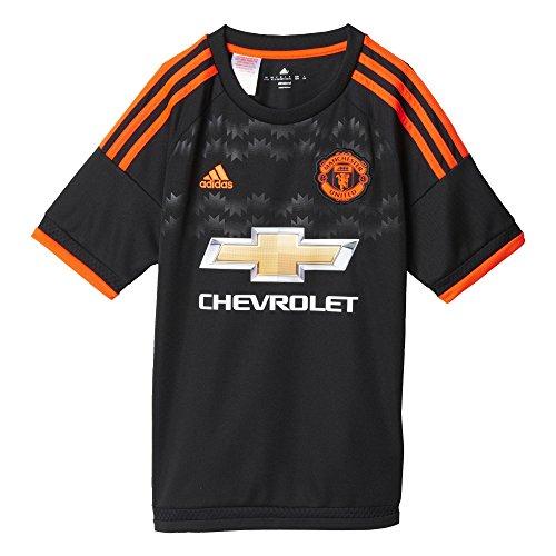 Adidas 3JSY MUFC y-camiseta für Kinder schwarz/rot 12 Jahre schwarz / rot (Camiseta De Manchester United)