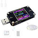 USB-Spannungsprüfer und Stromtester Voltmeter USB Tester mit Bluetooth Stromzähler Digital Voltage Power Display Farbe USB-Multimeter-Tester Multi-function Typ-C PD Amperemeter Detektor Voltmeter