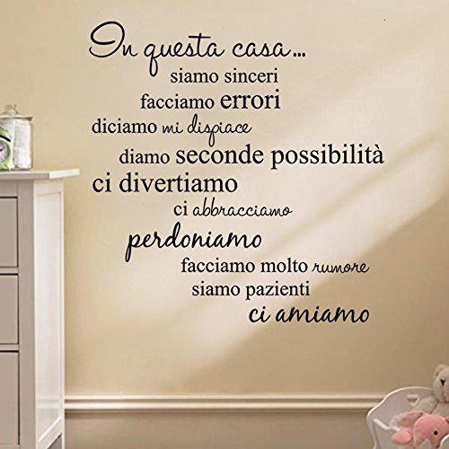 LifeUp Disegn Originale- Adesivo Murale Frase in Italiano Soggiorno ...