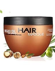 Skymore Argan Oil Haar-Maske, Marokko Öl Haarcreme, Conditioner für intensive Haarpflege, mit Arganöl und Mandelöl,Hitzeschutz Haare,1er Pack(1x250ml)