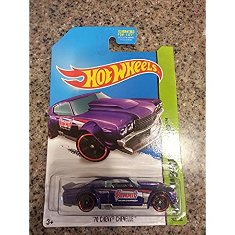 Hot Wheels 2014 Hw Workshop Performance Purple '70 Chevy Chevelle 243/250 - 70 Chevy Chevelle