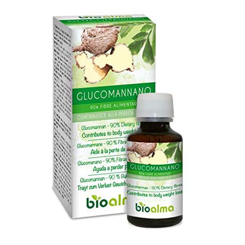 GLUCOMANNANO (Amorphophallus konjac) radici Naturalma | 90% Fibre alimentari | 120 Capsule da 500 mg | Dimagrante e riduzione peso corporeo | Integratore con estratto titolato e concentrato | Vegano