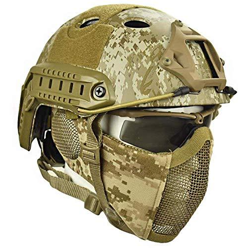Zywtrade Casco tattico Esterno Casco Rigido elmetto ABS e Casco per Airguns, Paintball, Caccia e Tattiche di tiro (SM)