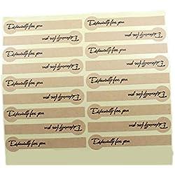 20hojas 360pcs tira Kraft especialmente para usted adhesivo DIY boda fiesta embalaje de regalo tarjeta de etiqueta pegatinas casa horno hecho a mano para galletas Candy pegatinas