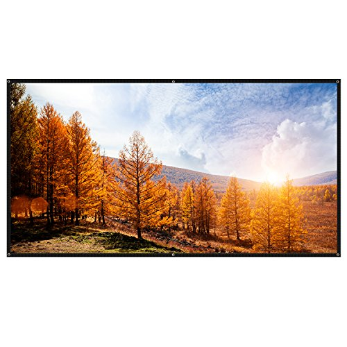 CAHAYA 100 Beamer Leinwand 3D/HD Leinwand Projektionsleinwand Bilddiagonale Heimkino 16:9 220x125cm