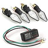 4 Indicatore di Direzione Lampada Segnale 12LED SMD 3528 Bicolore+Relè per Moto
