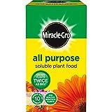 Miracle-GRO Engrais Soluble dans l'eau pour Gazon 2kg Engrais Soluble pour Plantes Carton 1 kilograms
