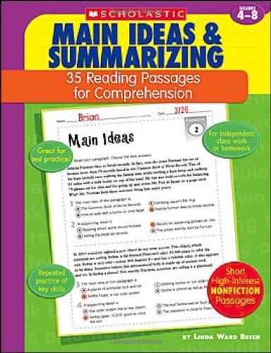 Main Ideas & Summarizing: Grades 4-8 (35 Reading Passages for Comprehension)