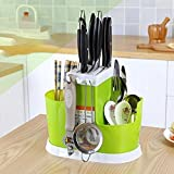 #8: Fast Unbox Fastunbox Multi Functional Basket Chopsticks, Spoons, Knife & Other Kitchen Cutlery Storage Holder Stand