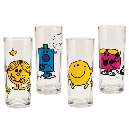 Mr Men Little Miss 10 Oz Glass Set Of 4