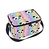 Best Rainbow ice pack - ALAZA Panda Rainbow Striped Insulated Lunch Bag Box Review