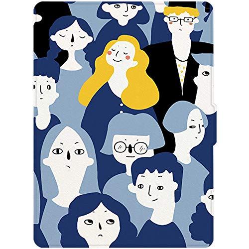 HLCBHT Kindle Cover Paperwhite4 Zeichentrickfigur Muster 10. Generation 6-Zoll-Literarische Persönlichkeit E-Reader Shell Schlafen Dünne Anti-Fall-Ärmel