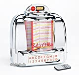 Steepletone Diner Retro 1950s American Style BT Bluetooth Compact Jukebox Wall Mountable or