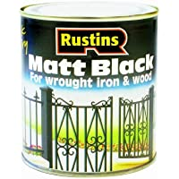 Rustins BLAM250 250ml Paint - Matt Black