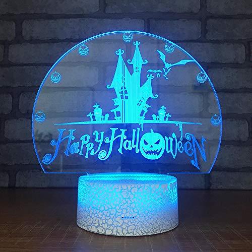 d Nachtlicht Halloween 7 Farben Niedliche Cartoon-Form Touch Switch Acryl Flat & Abs Base Deko Besten Für Kinder Spielzeug Geschenk Haus Dekoration ()